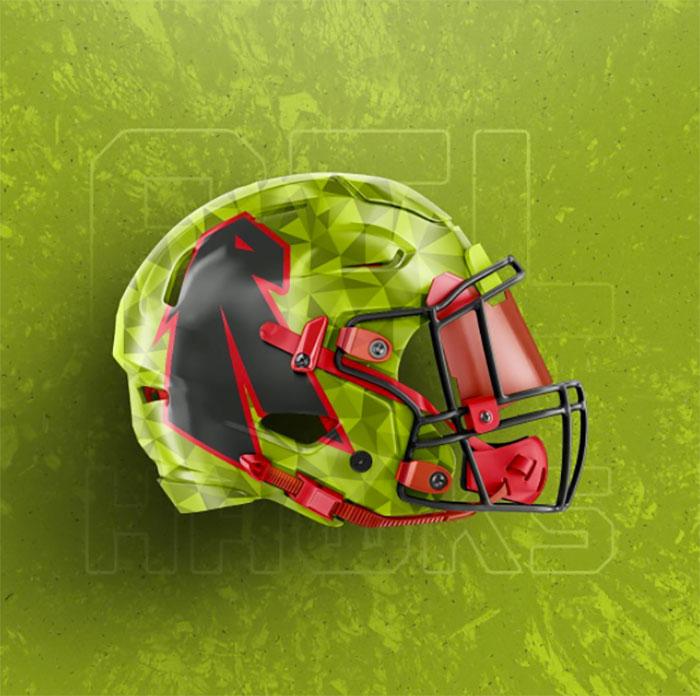 Hawks helmet two