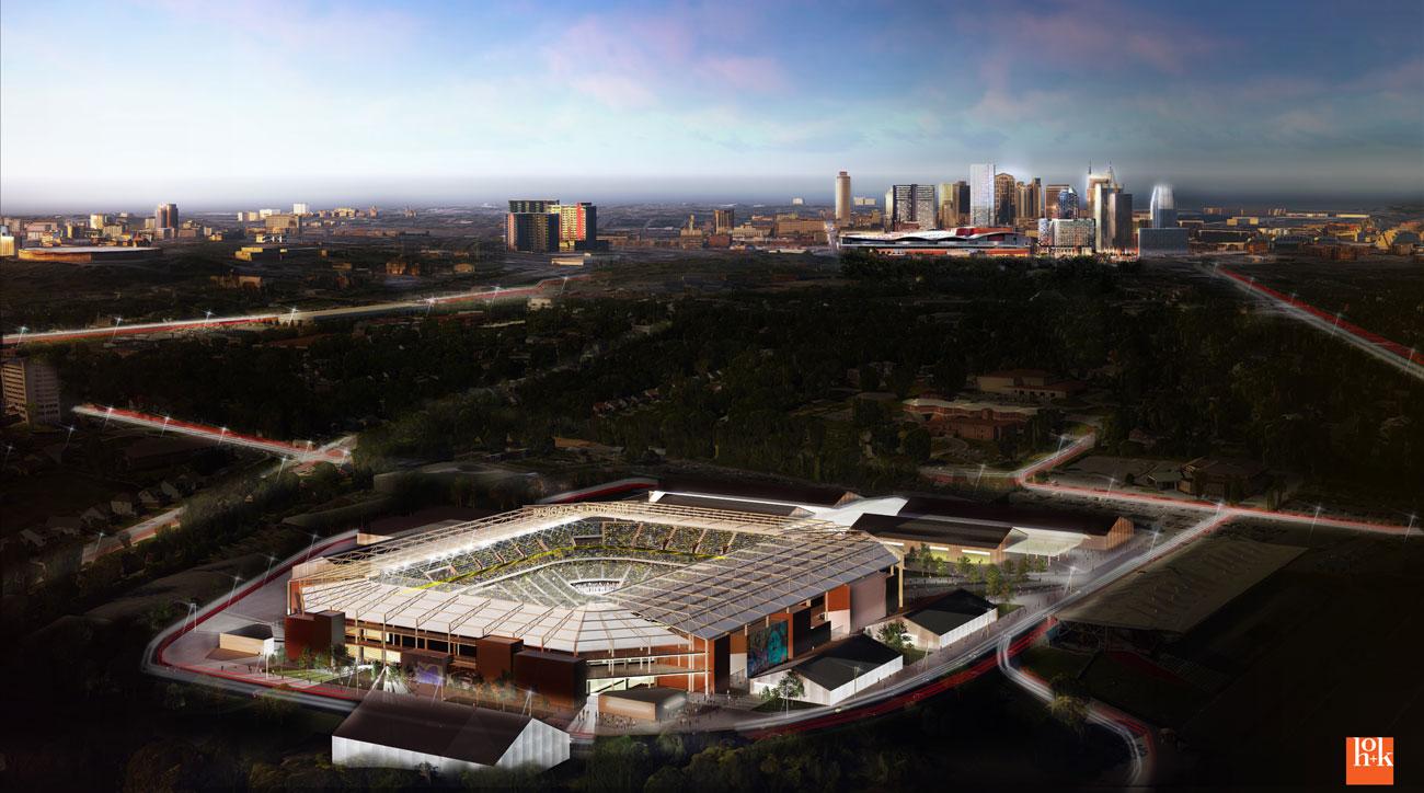 Nashville's proposed MLS stadium for its expansion bid