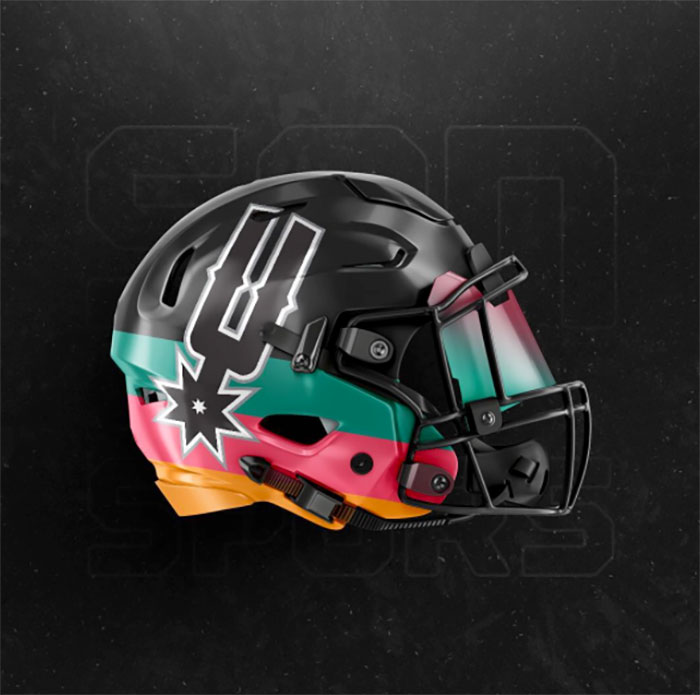 Spurs Helmet