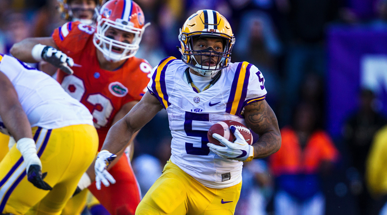 As Leonard Fournette limped through his final season in Baton Rouge, Guice took the reins of the Tigers' offense a year ahead of schedule and punished opposing defenses. New offensive coordinator Matt Canada plans to open up LSU's attack, but Guice remains the team's great equalizer with the vaunted defenses looming in SEC play.