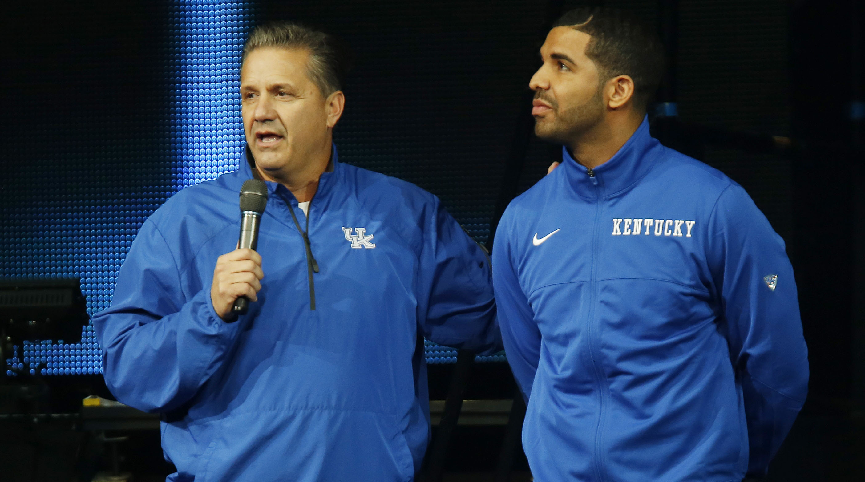 Drake Goes Full Drake Wearing Kentucky Gear to Play Ball at UCLA