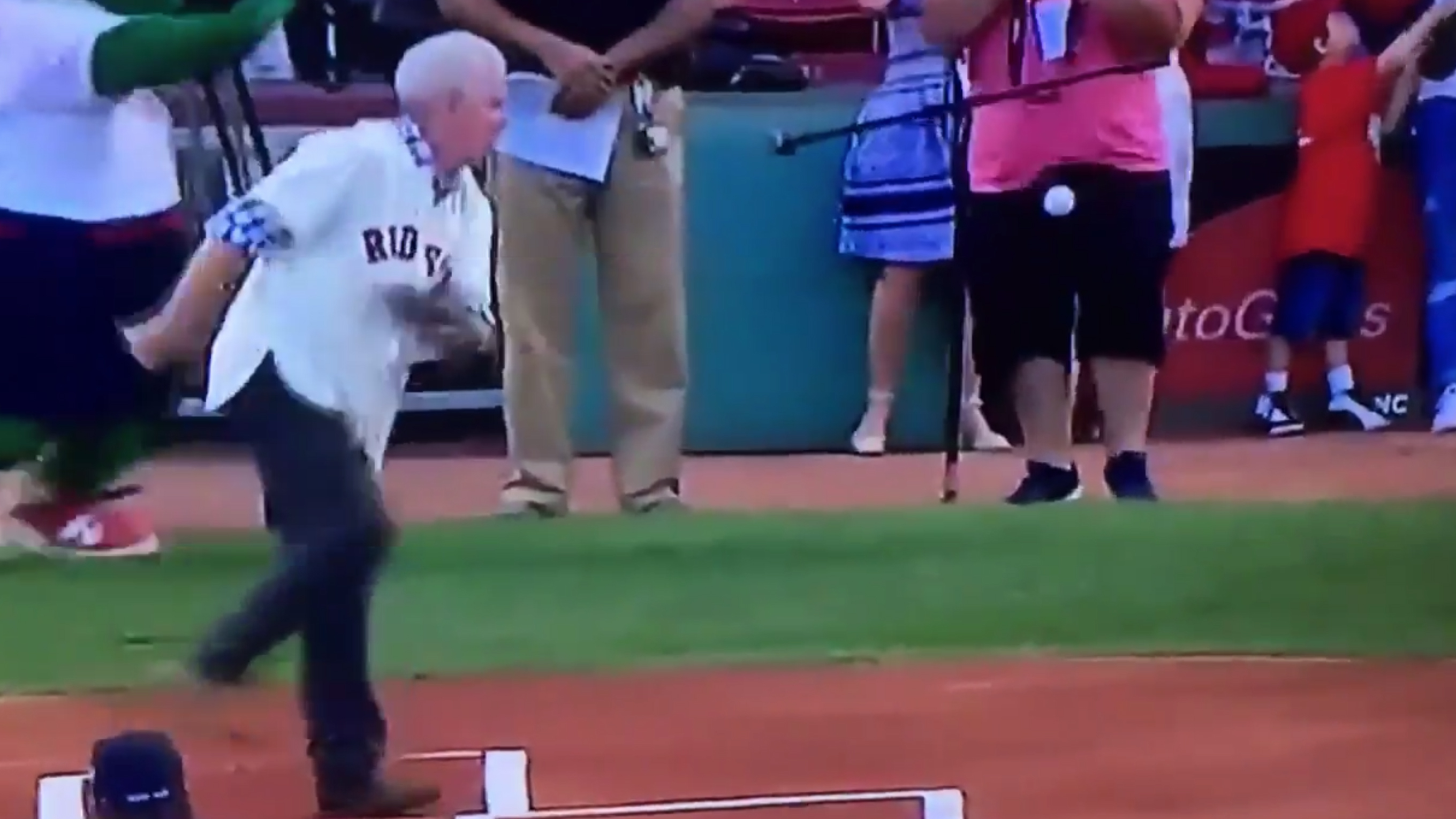 Here's Video of a Solid Contender for Worst First Pitch Ever