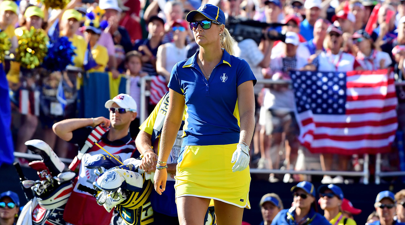 Anna Nordqvist got out to a big lead versus Lexi Thompson, but it only resulted in a half point.