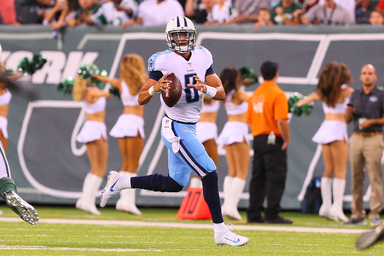 Marcus Mariota has a career record of 11-16 as a starter heading into his third season with the Titans.
