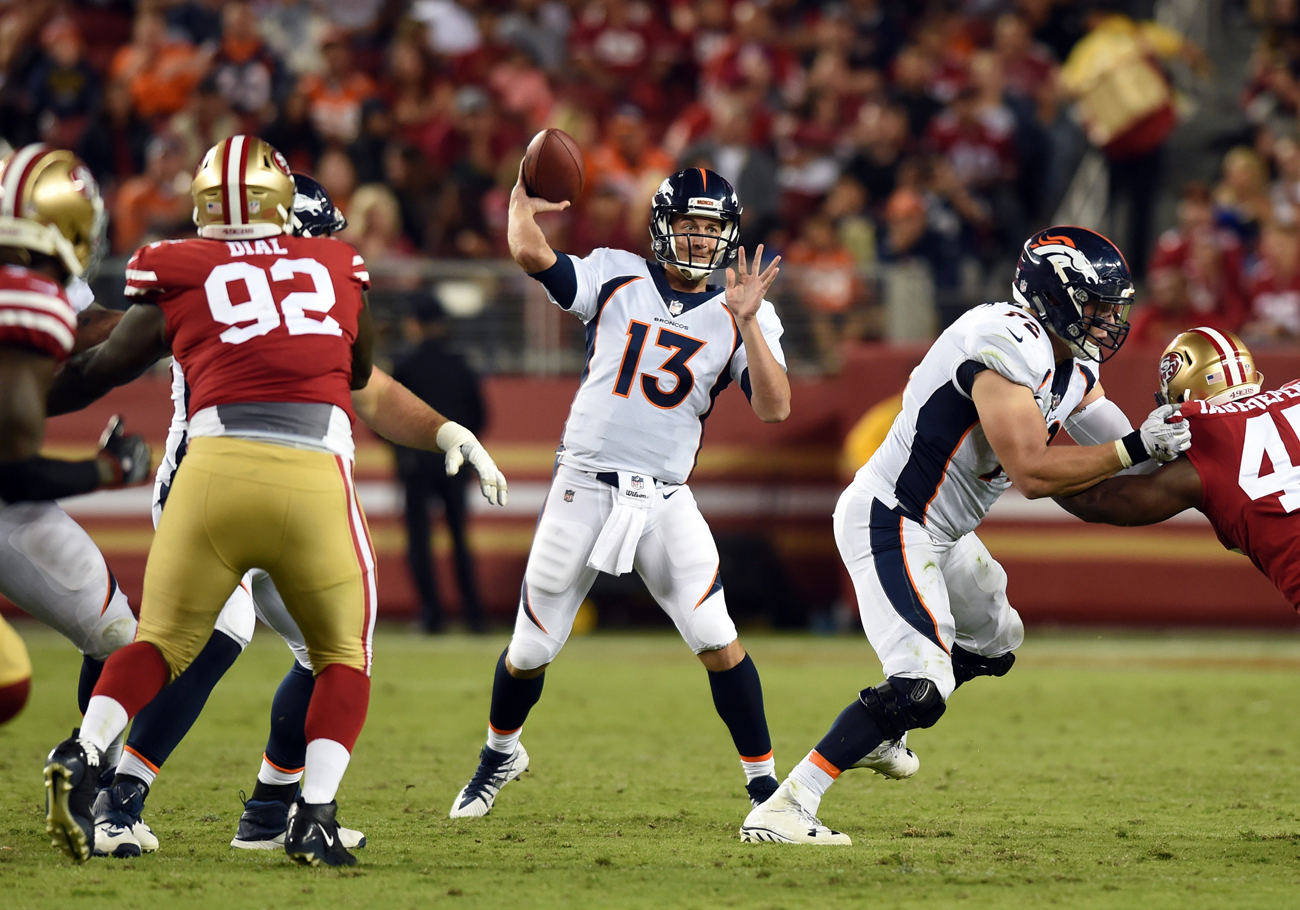 This preseason the Broncos are holding an open competition for the starting quarterback job, and Trevor Siemian appears to be winning.