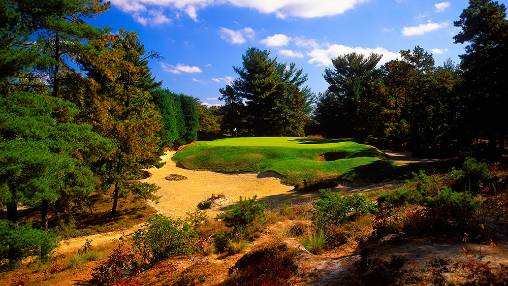 <p>Pine Valley, N.J., George Crump/H.S. Colt, 1918</p><p>There's no secret as to why Pine Valley has been ranked No. 1 in the World by GOLF Magazine since 1985. Uniquely beautiful and brutal, 99-year-old Pine Valley serves up multiple forced carries on holes that hopscotch from one island of turf to the next. </p>
