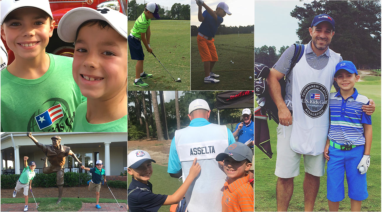 The author and his sons had a week to remember at Pinehurst.