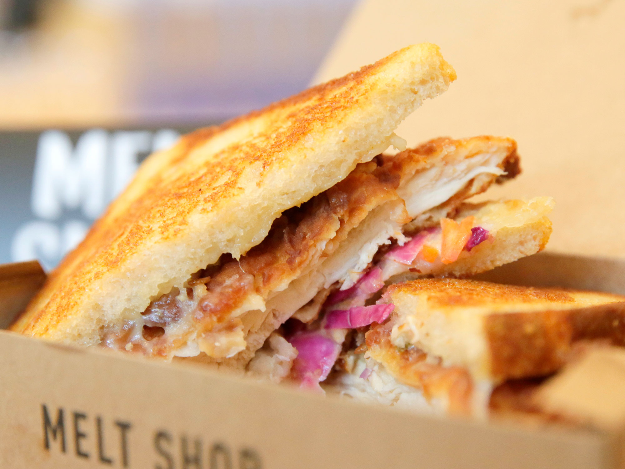 One of the grilled cheese sandwiches from Melt Shop.