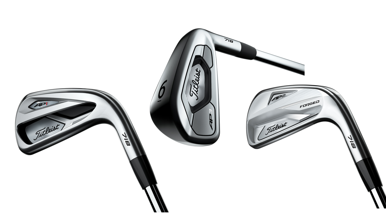 The new Titleist 718 AP1, AP3, and AP2 irons.
