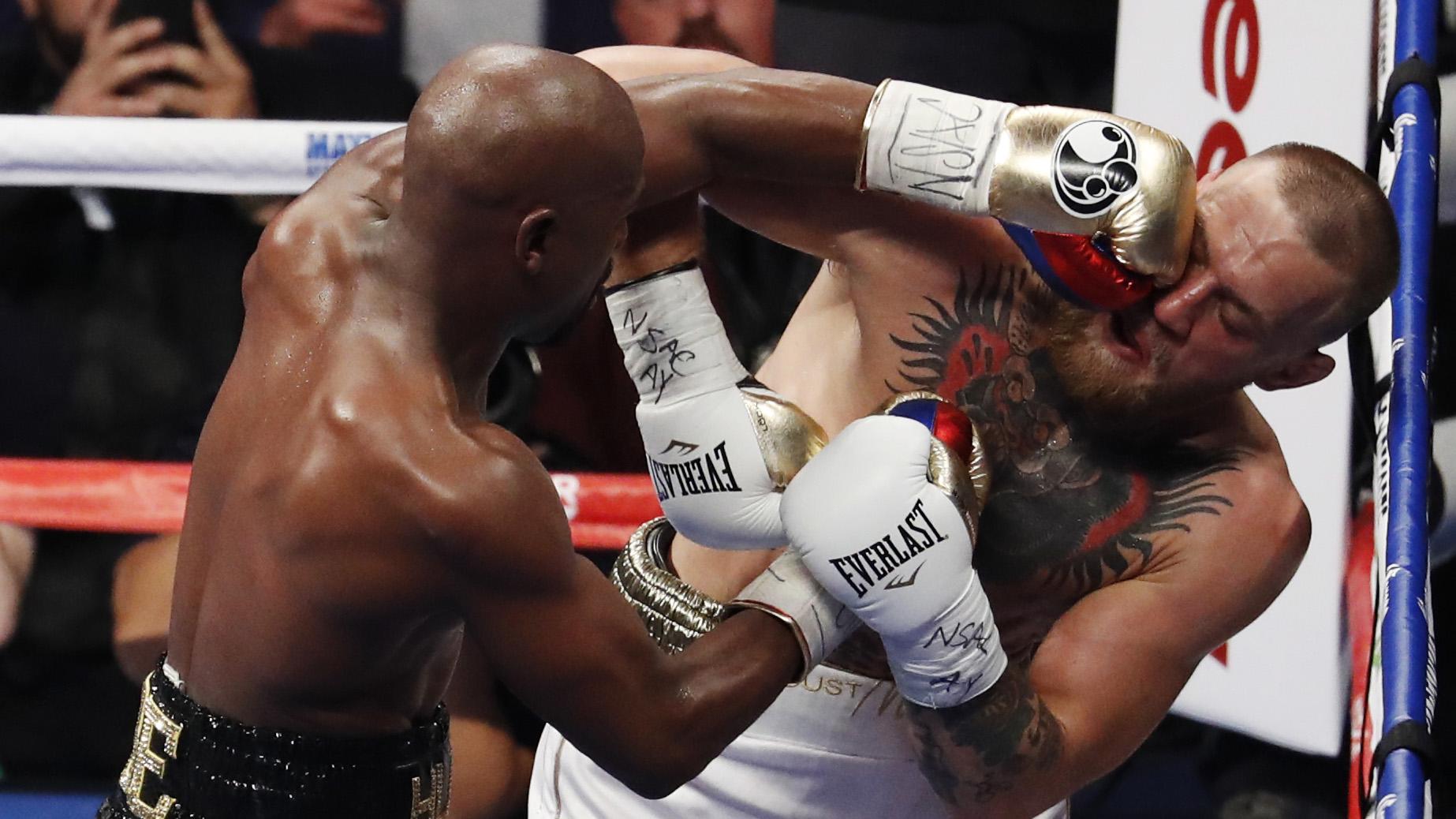 Mayweather wins McGregor by TKO 29
