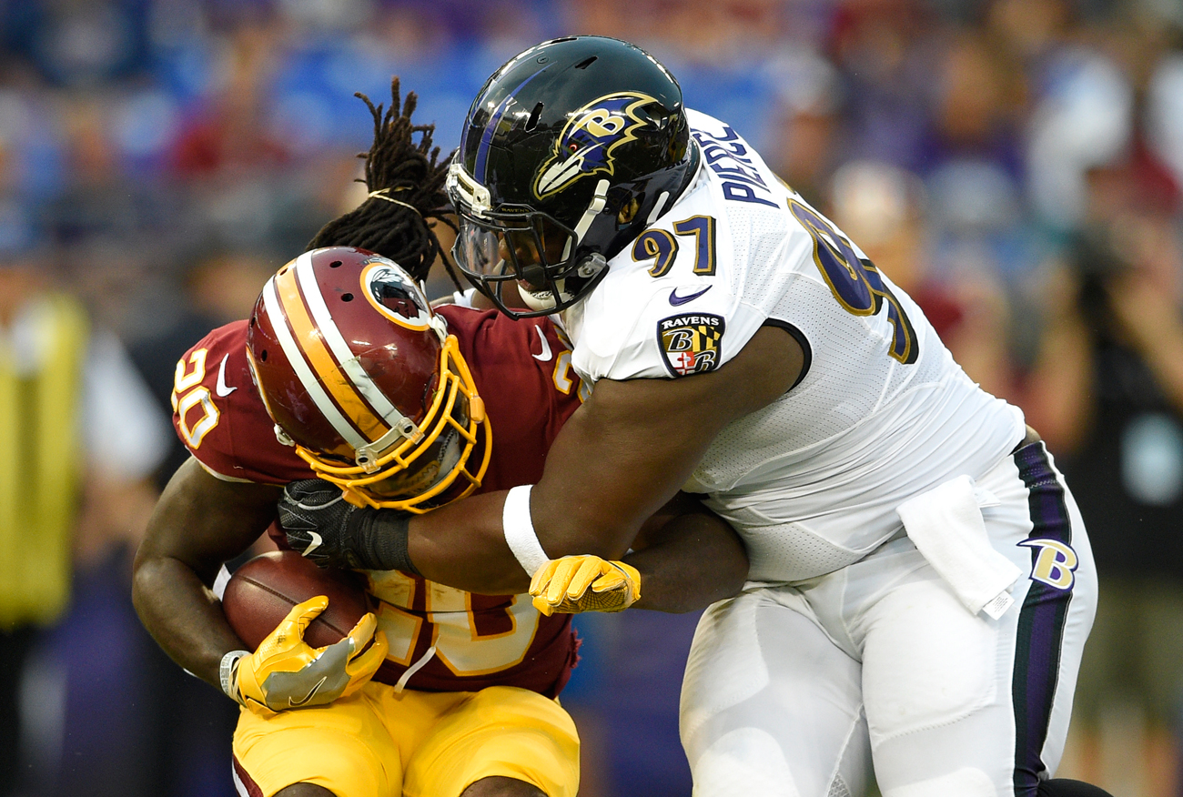Michael Pierce and the Ravens defense has been impenetrable so far during the preseason.