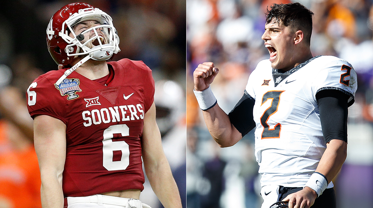 baker mayfield mason rudolph big 12 pivots on bedlam qbs si com
