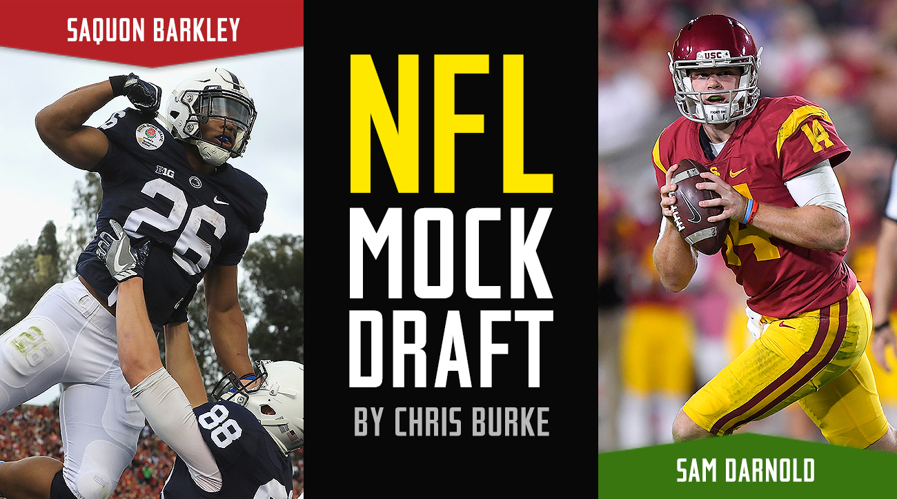 NFL Mock Draft 2018: Sam Darnold, Josh Rosen top first round picks, preseason projections