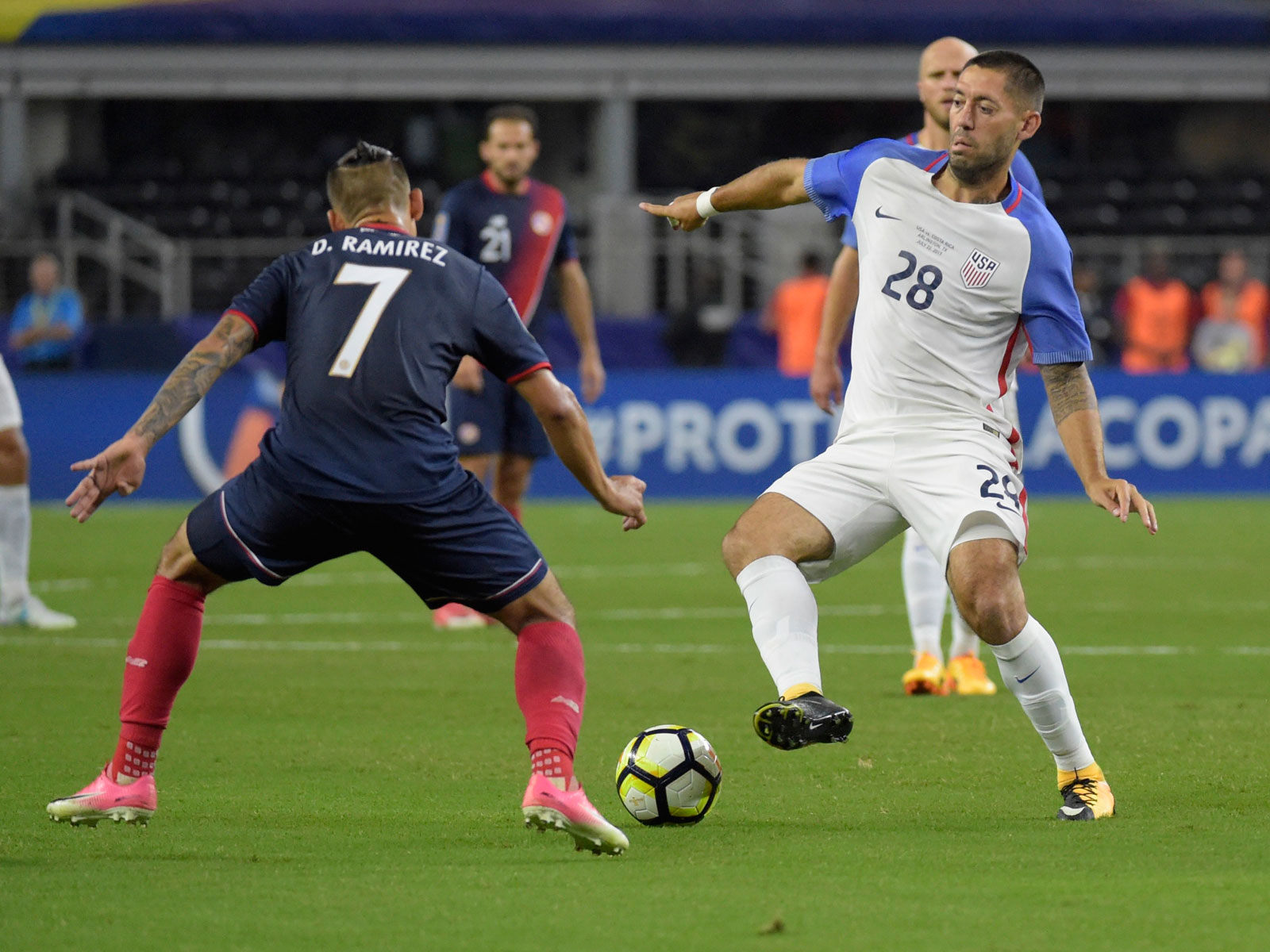 Clint Dempsey and the USA face Costa Rica in a huge World Cup qualifier