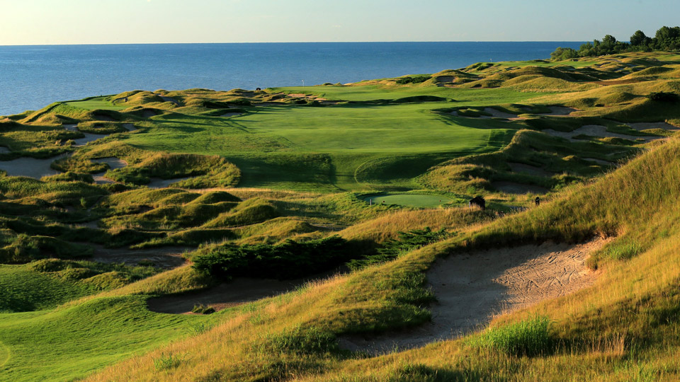 The bunkers are bonkers on Pete Dye's treacherous Straits course.