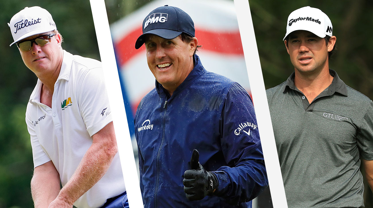 Charley Hoffman, Phil Mickelson and Brian Harman.