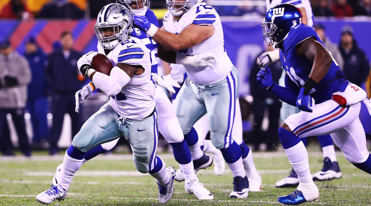 Ezekiel Elliott will be on the field when the Cowboys host the Giants on Sunday night.