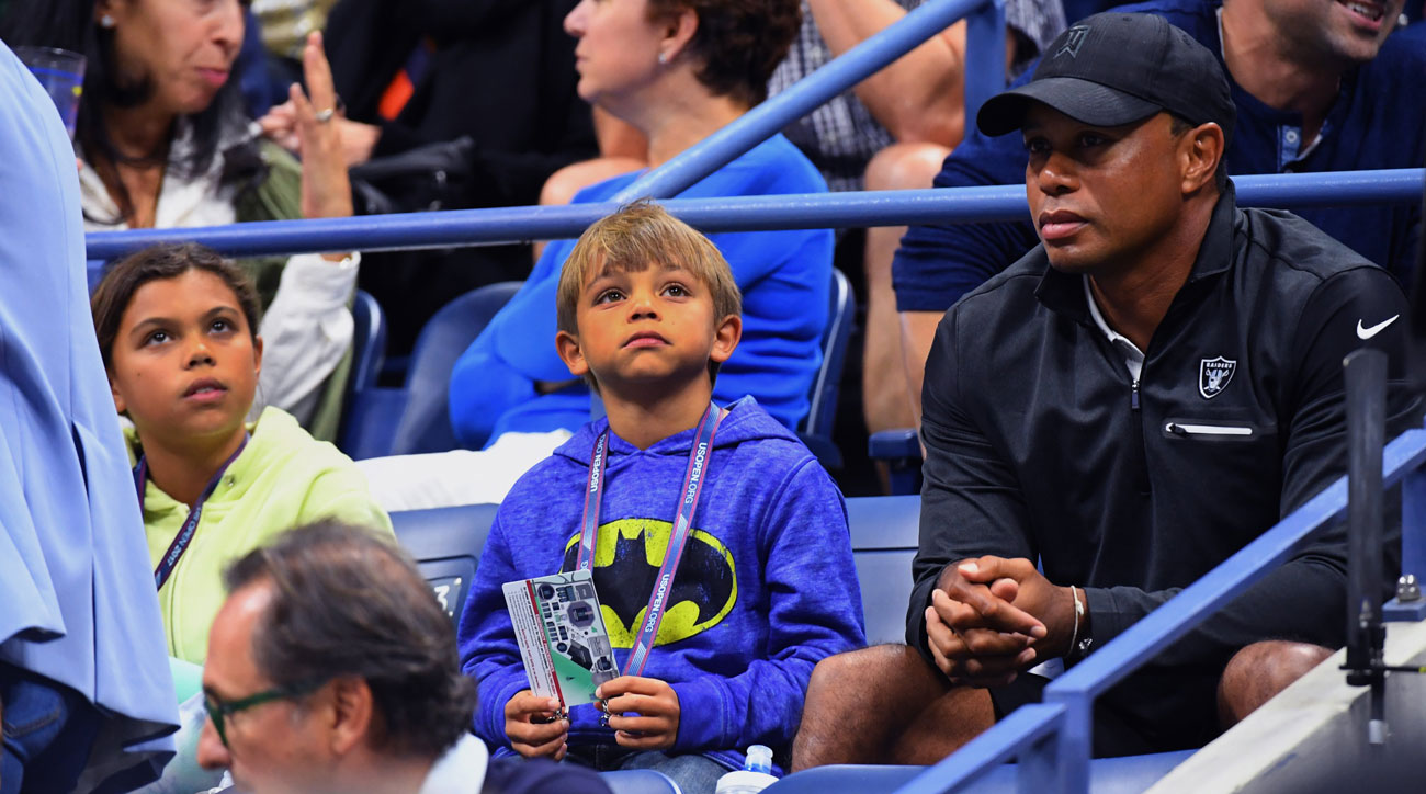 tiger woods spotted in rafa nadal u0026 39 s box seats at u s  open