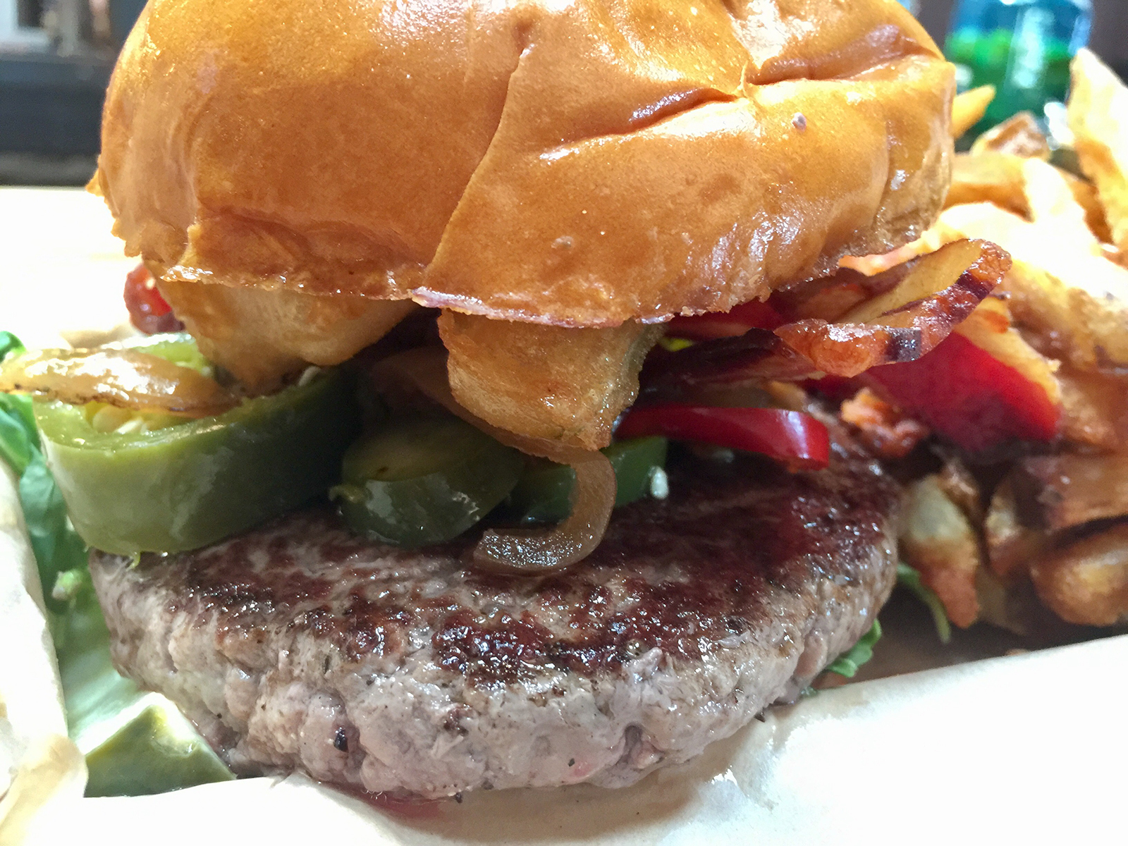 Blast Pig Burger from Industry Public House