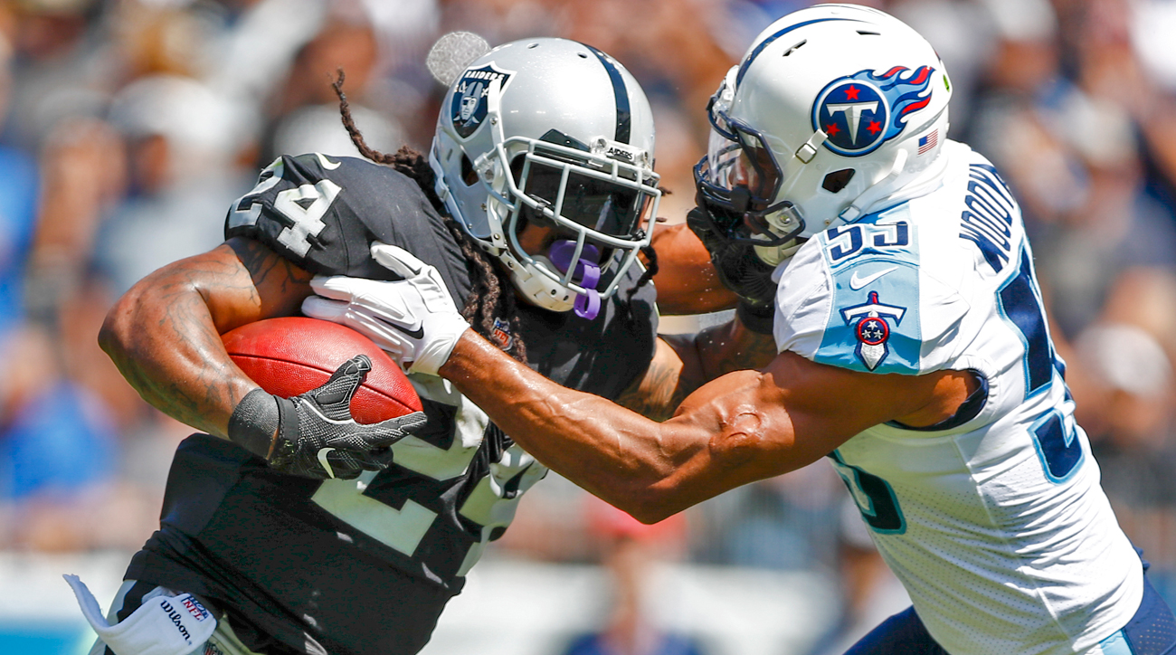 Sunday's game was Marshawn Lynch's first NFL action since a January 2016 playoff loss.