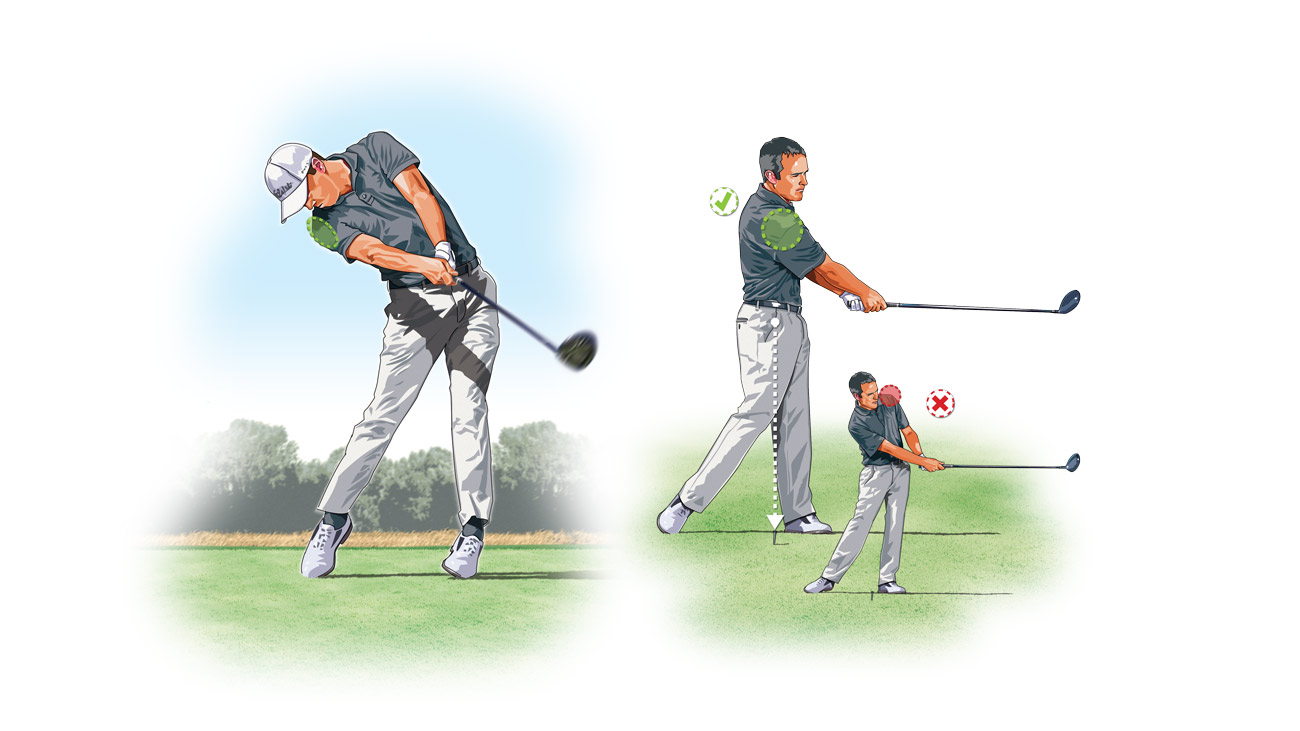 Chances are, if you're not getting the distance you crave, it's because you're not rotating your body enough through the shot.