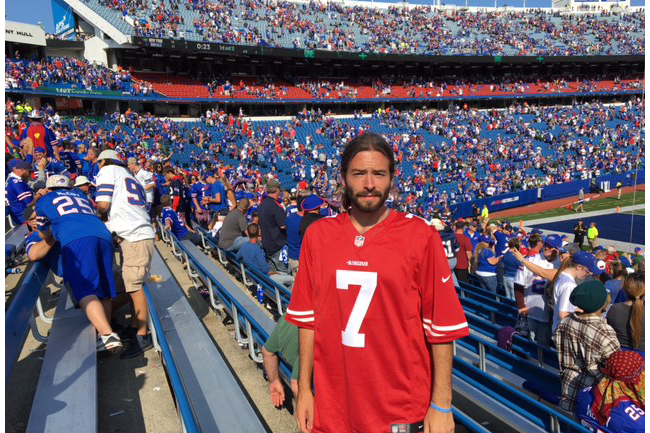 los angeles 54bcc 9023f I Wore a Colin Kaepernick Jersey to an NFL Game | SI.com