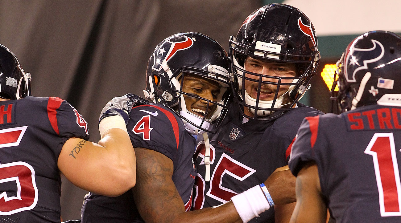Texans QB Deshaun Watson scored the only touchdown of the game Thursday night with his legs.