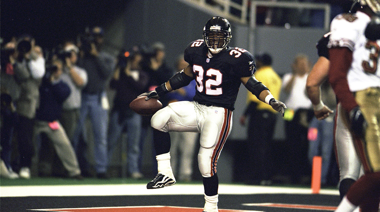 Jamal Anderson (and his end zone celebrations) captured Atlanta's imagination during the 1998 season.