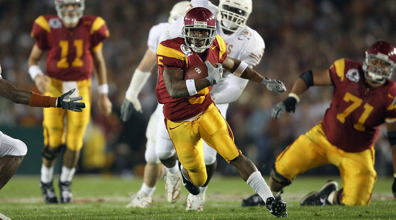 The NCAA took away his Heisman Trophy from the 2005 season, but no one will ever forget USC-era Reggie Bush. He was the most exciting player in college football by far that year, a do-everything back capable of turning any mundane play into an all-time highlight. The second overall pick in the 2006 draft, Bush enjoyed a solid career that frustrated many who expected him to sustain his electric talents at the next level, posting career numbers of 5,490 rushing yards, 3,598 receiving yards and 48 total touchdowns.