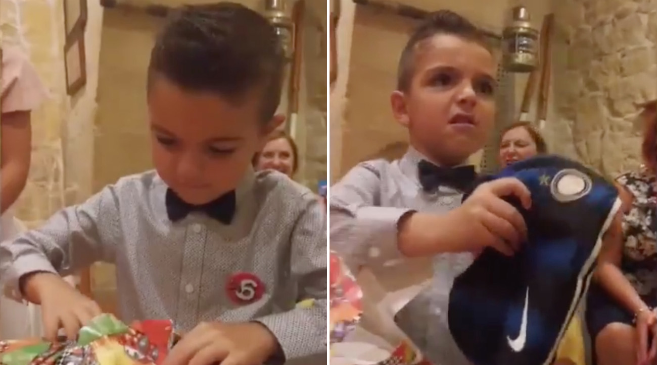 Video: Little Juventus Fan Reacts with Appropriate Disgust Upon Receiving Rival's Shirt