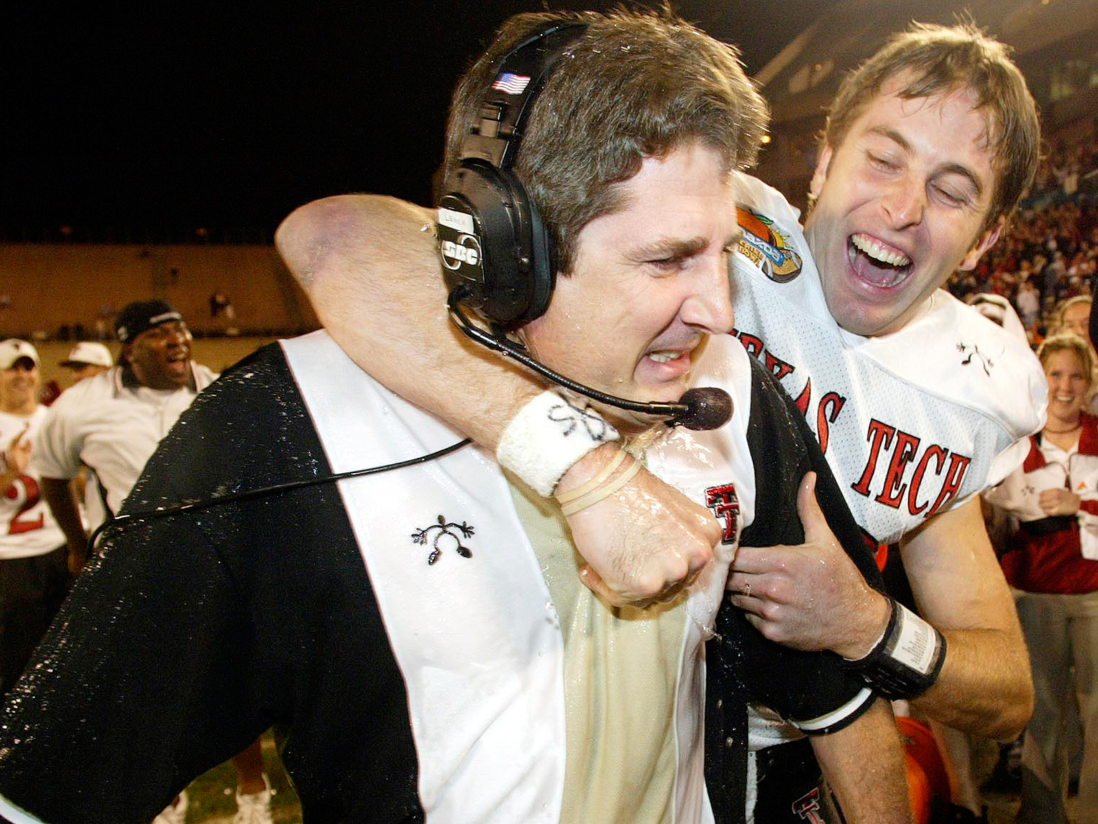 In the real world, Leach turned Texas Tech into his Air Raid test tube and ultimately launched the coaching careers of his disciples, including legendary Red Raiders QB and current head coach Kliff Kingsbury (right).