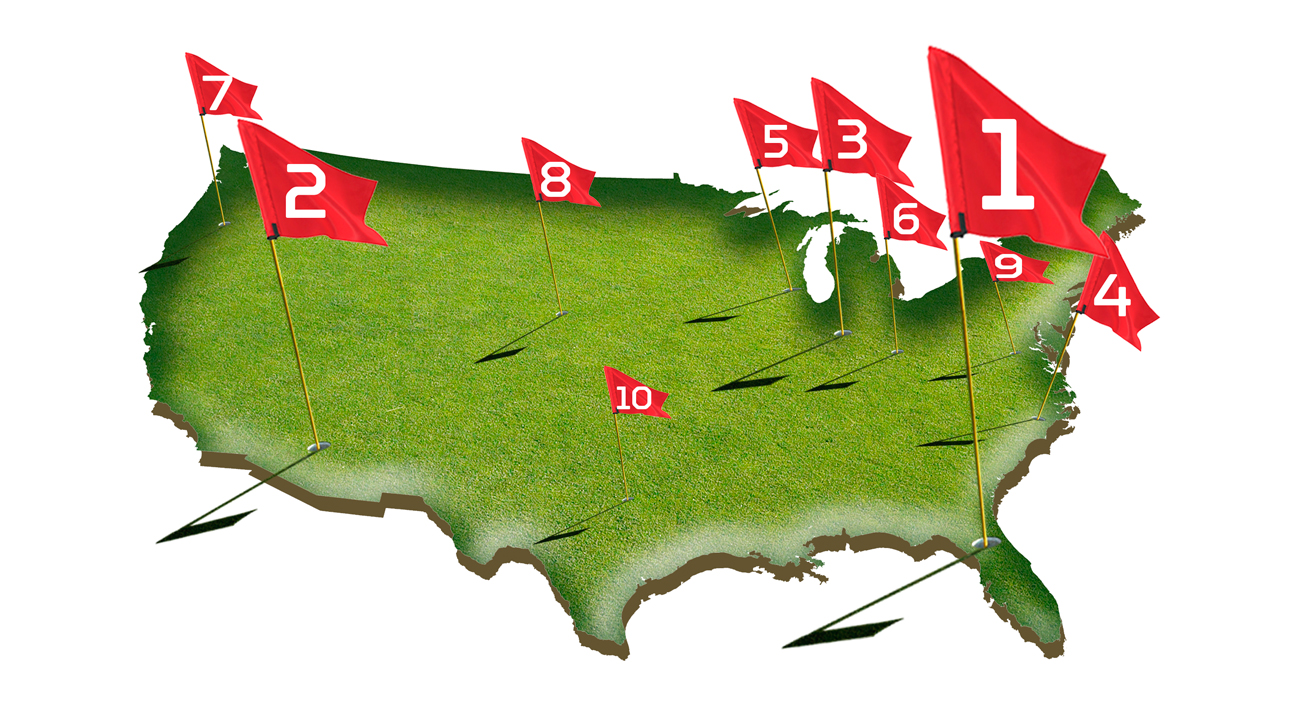Every region of the country is covered, but which cities are the best golf spots to live?