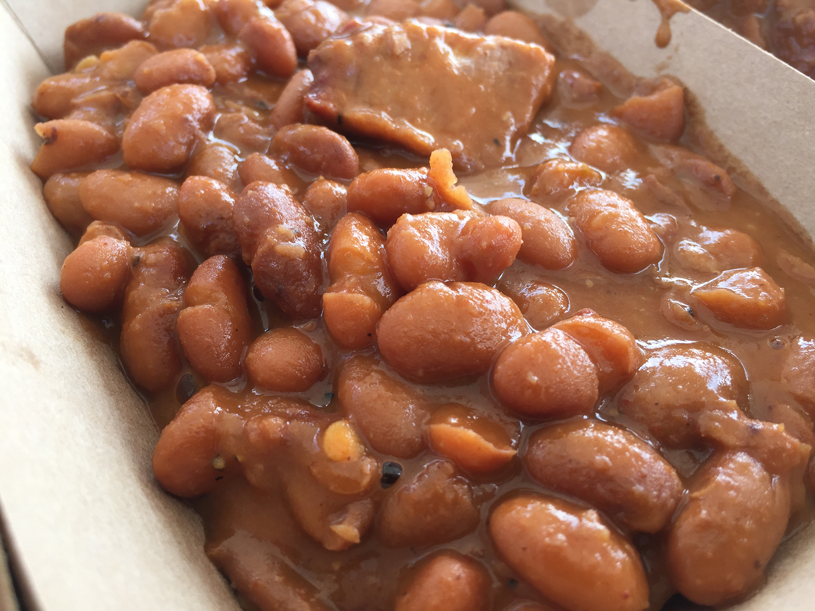 Baked beans from Guess Family Barbecue.