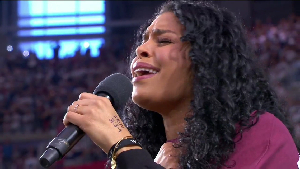 Jordin Sparks: Bible verse on Monday Night Football