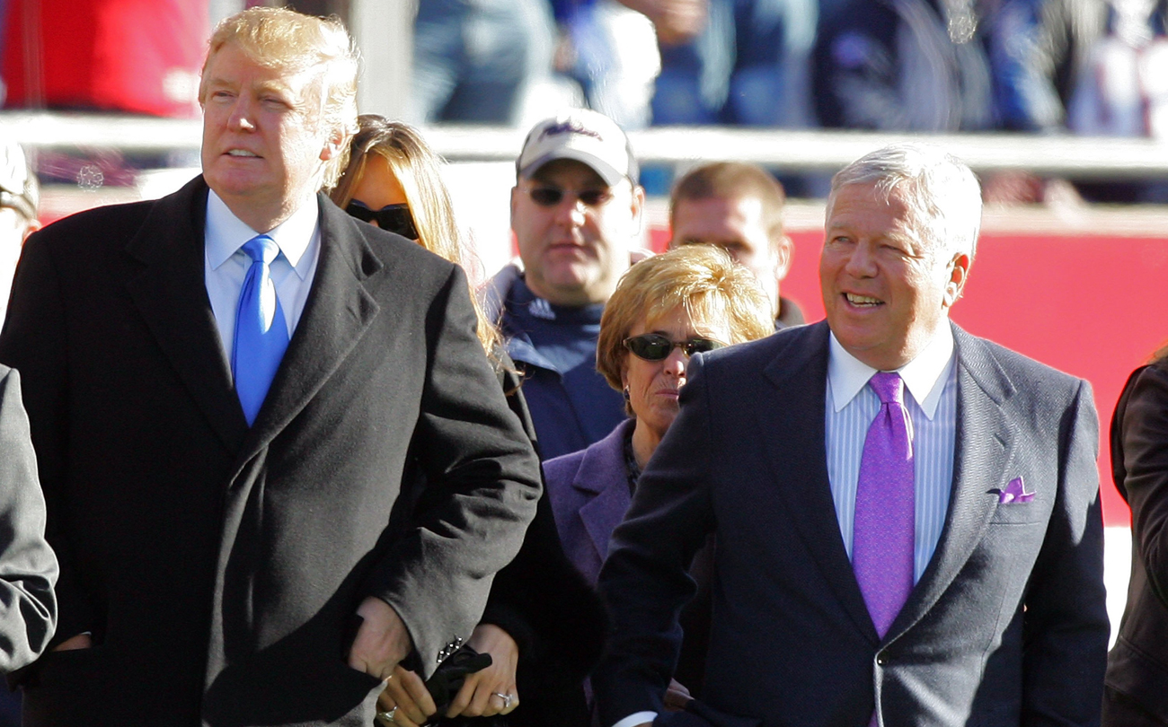New England Patriots owner Robert Kraft counts President Trump among his best friends.