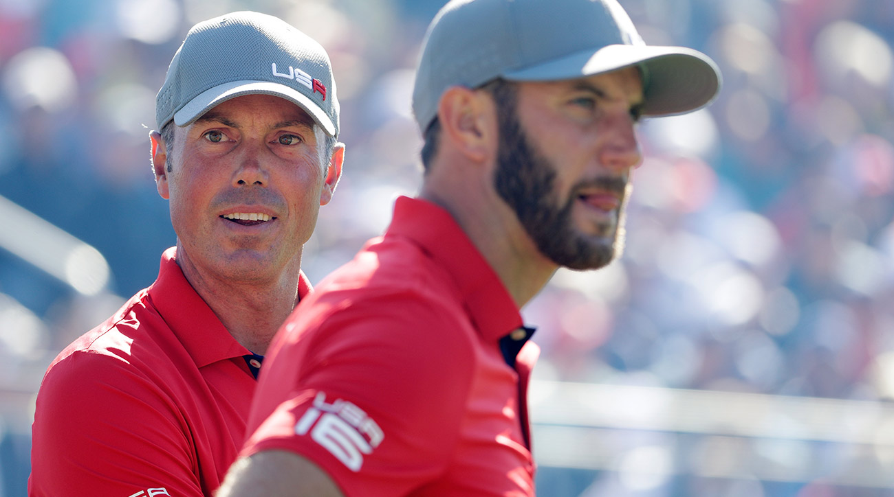 Matt Kuchar and Dustin Johnson teamed up at the 2016 Ryder Cup.