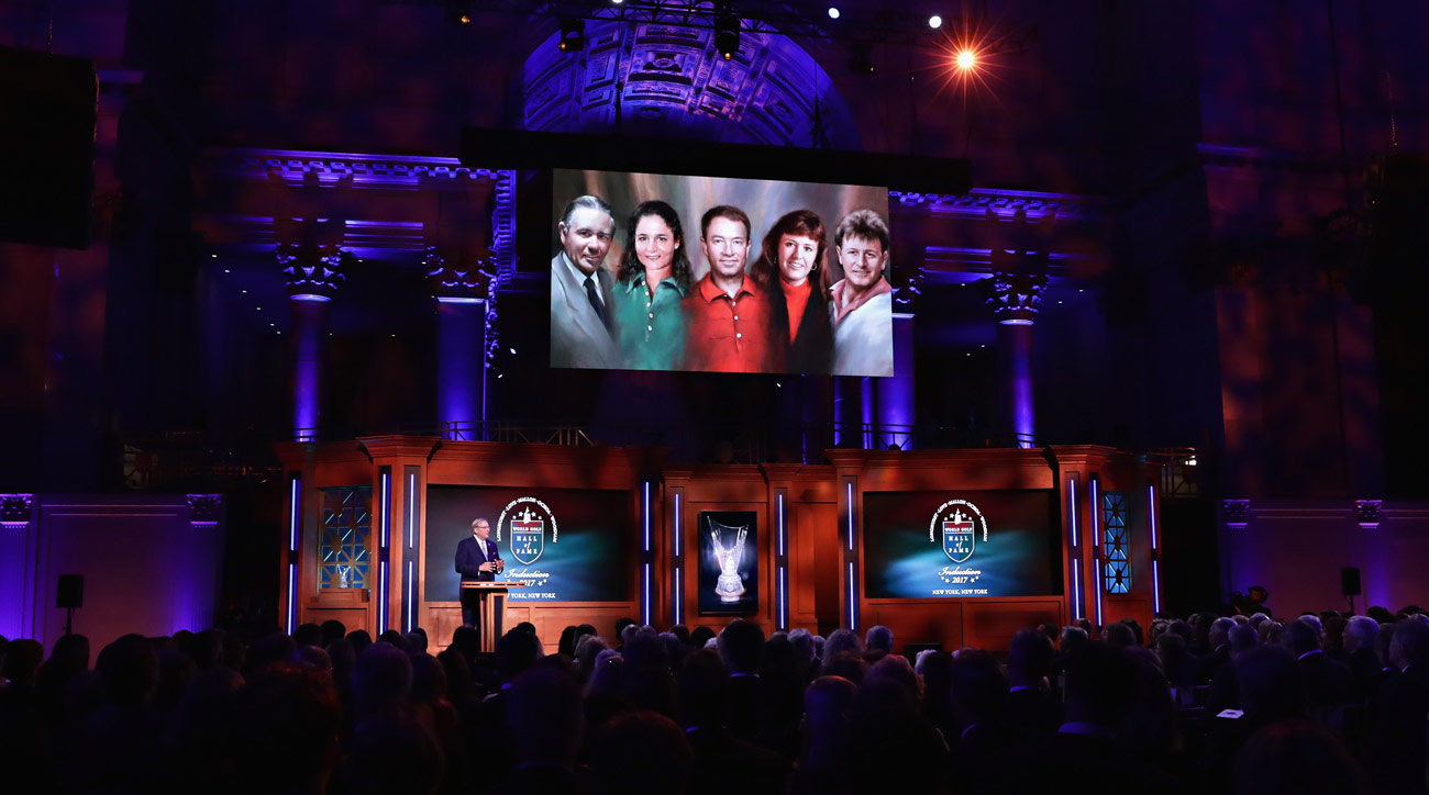 A view of atmosphere during the 2017 World Golf Hall of Fame Induction Ceremony on September 26, 2017 in New York City.