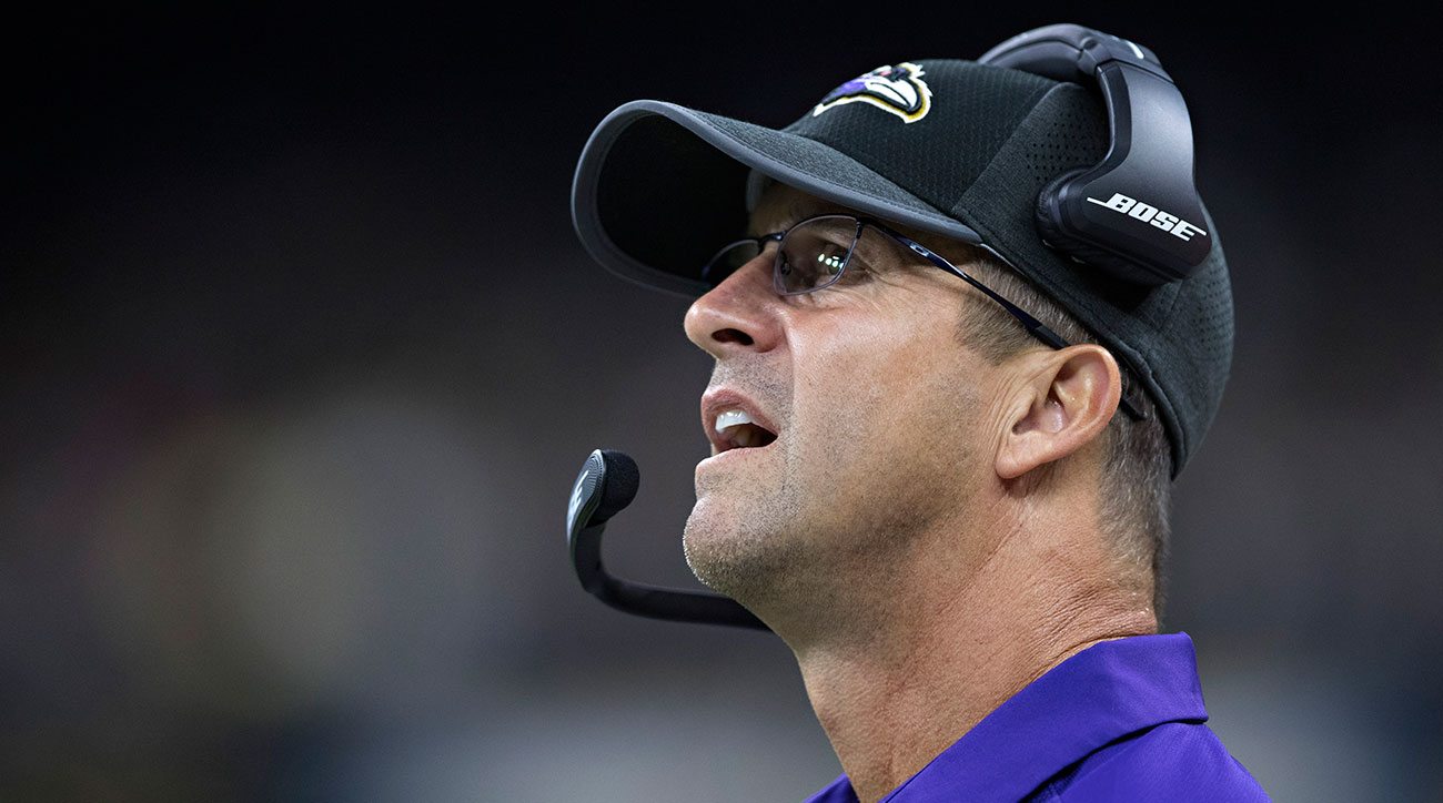John Harbaugh's Baltimore Ravens returned from England with an embarrassing loss.