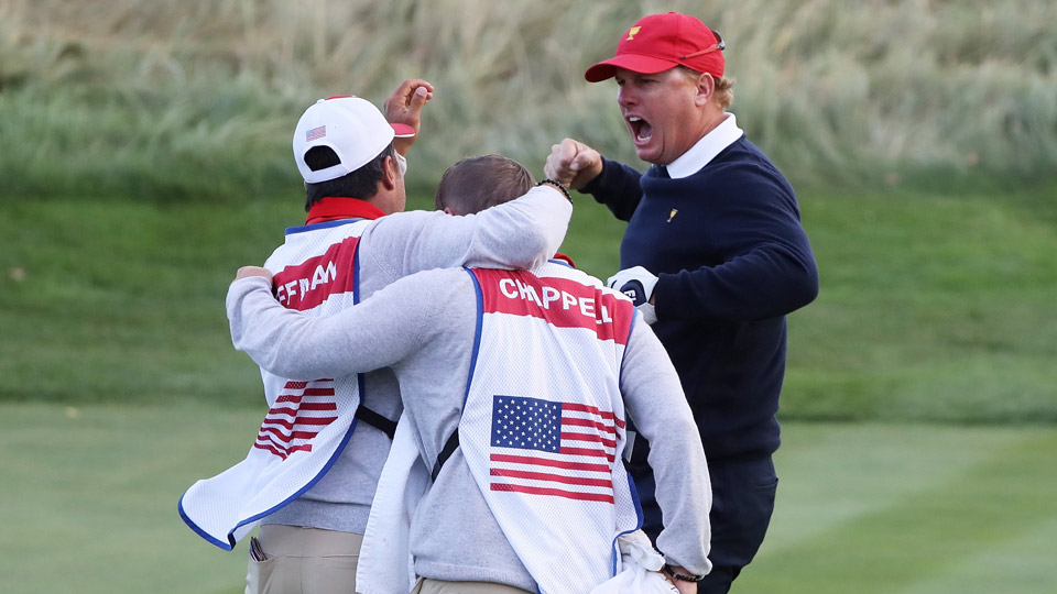 Charley Hoffman and Team USA have had plenty to celebrate at Liberty National this week.