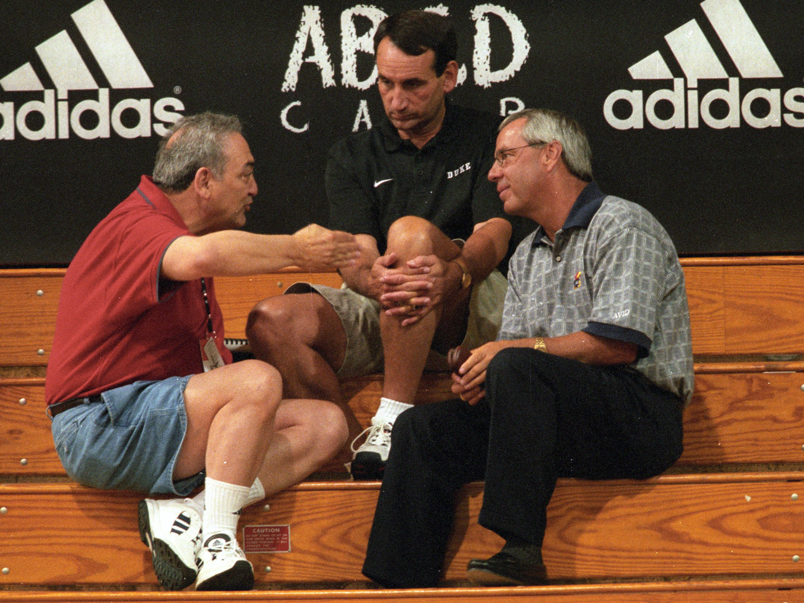 Vaccaro, seen here with Mike Krzyzewski and Roy Williams in 1998, was the pioneer of deals that connected shoe companies and major college programs.