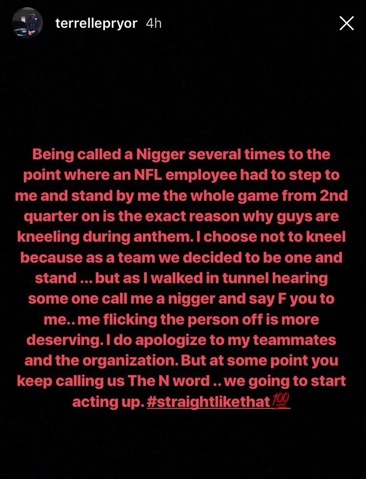 Terrelle Pryor called n-word