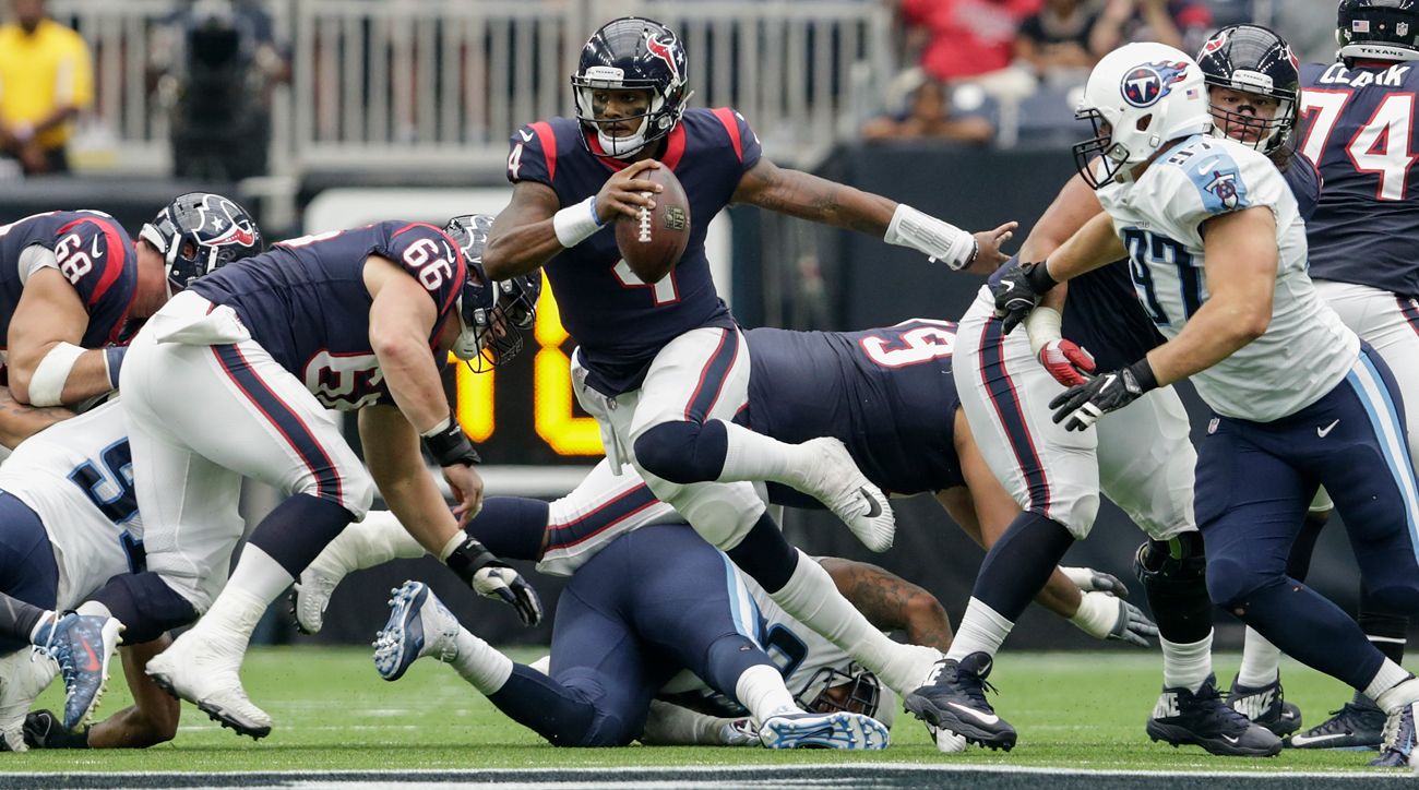 Deshaun Watson's passer rating and completion percentage has ascended in each of his three starts. The Texans have gone 2-1 in that stretch, with the lone loss coming in the final seconds in New England.