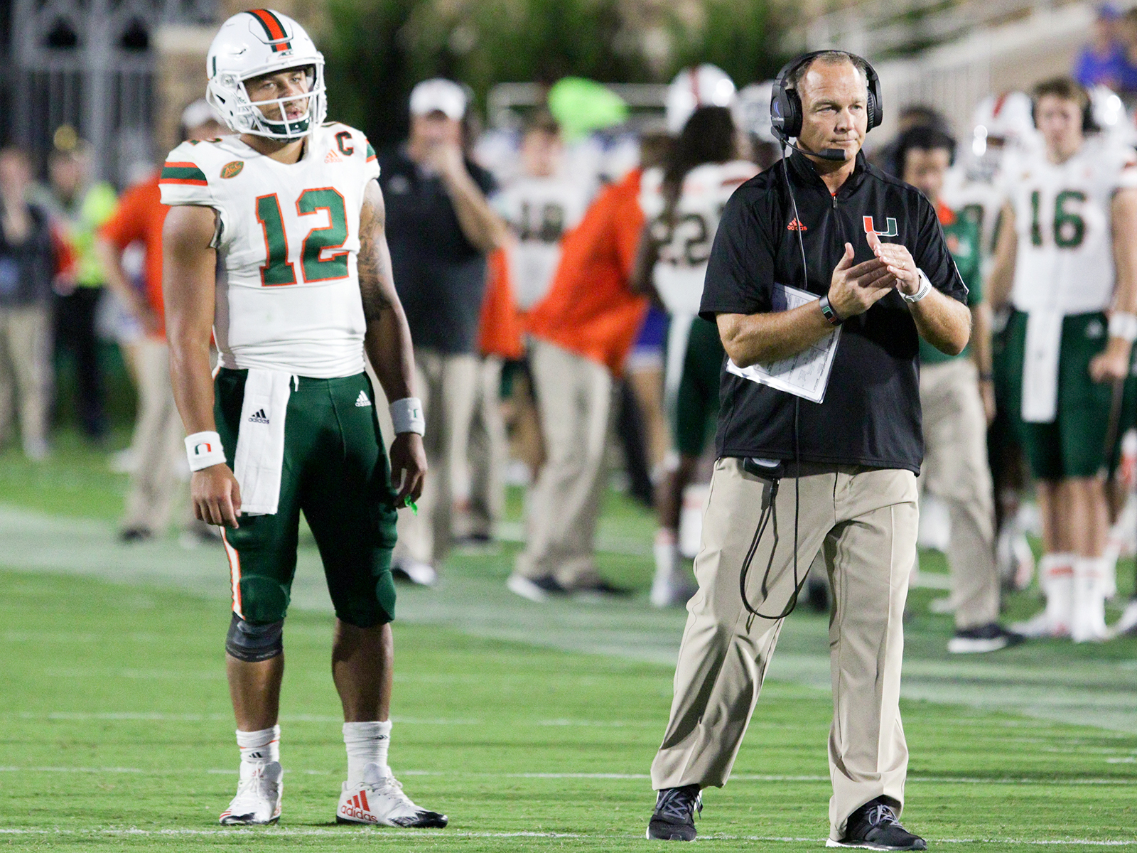 Junior Malik Rosier (left) has rewarded Richt's decision to go with the more experienced member of his summer quarterback battle.