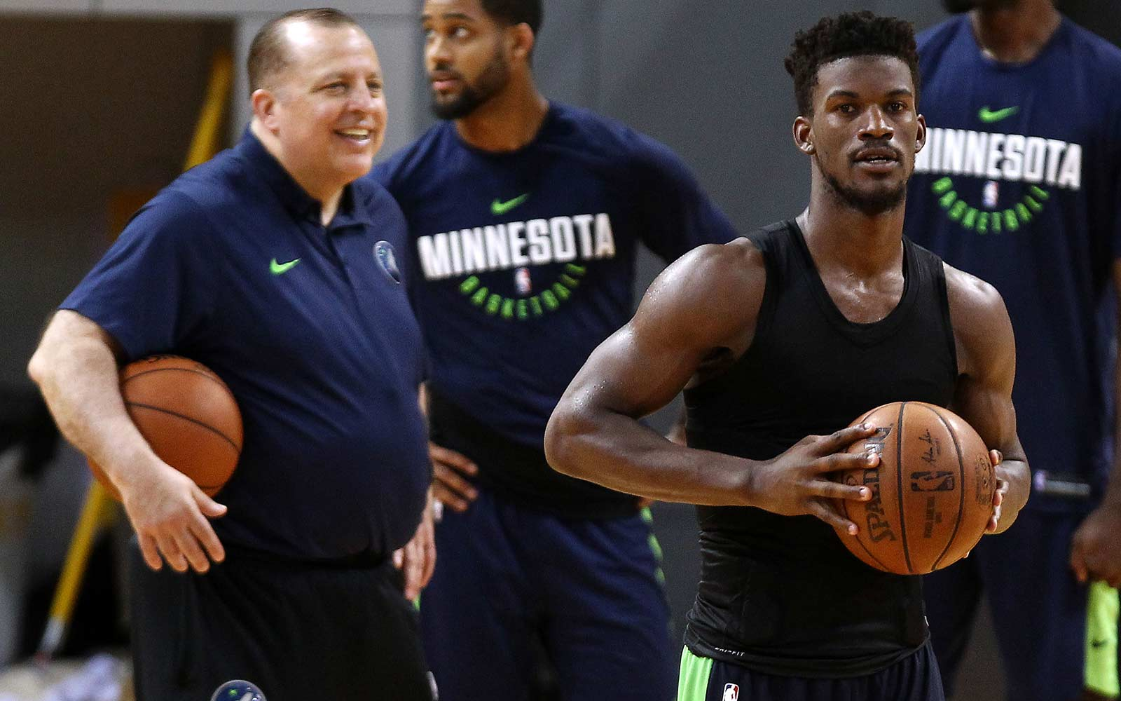 Tom Thibodeau and Jimmy Butler