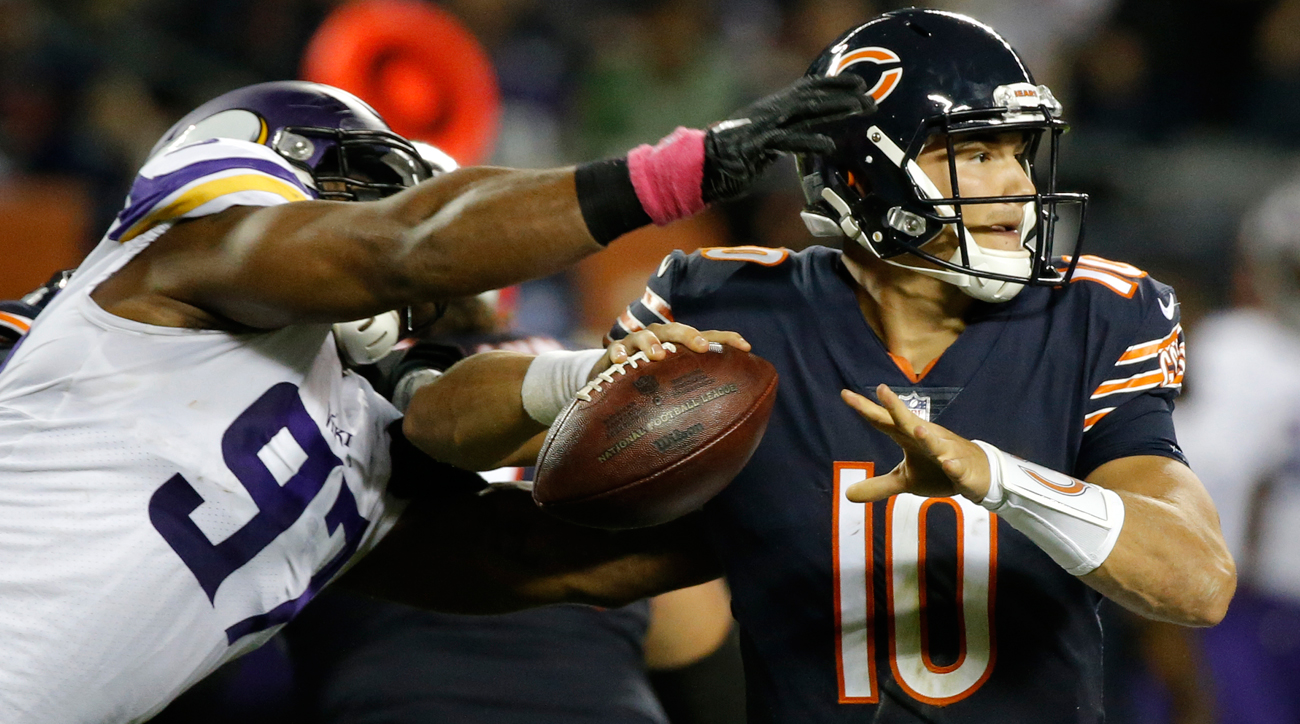 Mitchell Trubisky finished his debut with 128 yards on 12 of 25 passing with one touchdown, one interception and one fumble lost.