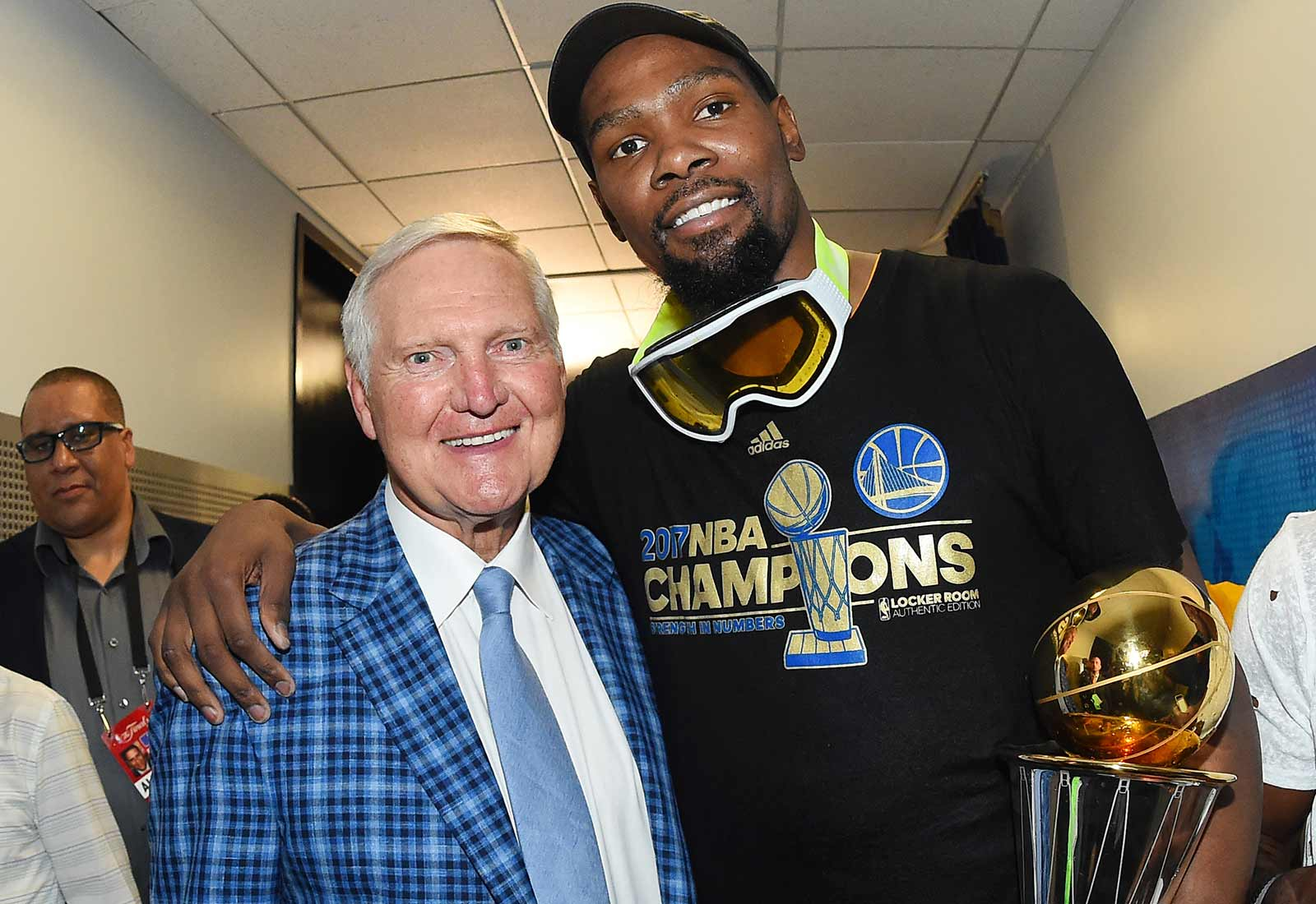 Jerry West and Kevin Durant