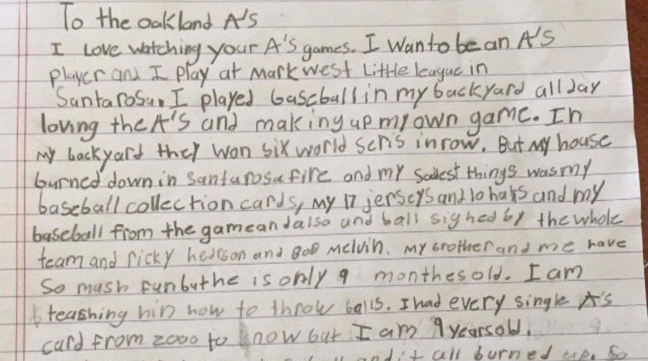 a u0027s fan writes letter after losing memorabilia in wildfire si com