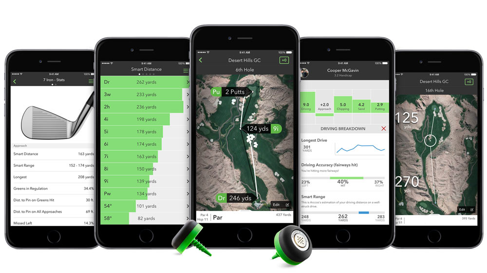 "This really is the age of knowing…everything. Distance to the pin, distance to clear the bunker, or how off line your driver has been all day. The screw-in caps measure all the numbers that an amateur really wants—distance, consistency, fairways hit (or missed), putts recorded, etc.—and tosses it into a slick smartphone interface. It's one of those things where you don't know what you're missing until you try it. <p> <a class=""standard-button"" href=""http://www.pgatoursuperstore.com/arccos-360-performance-tracking-system/1000000012265.jsp"" target=""_blank"">Shop Now</a></p>"