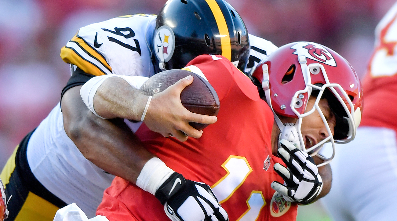 The Steelers sacked Alex Smith three times Sunday and limited the previously unbeaten Chiefs to just 251 total yards.