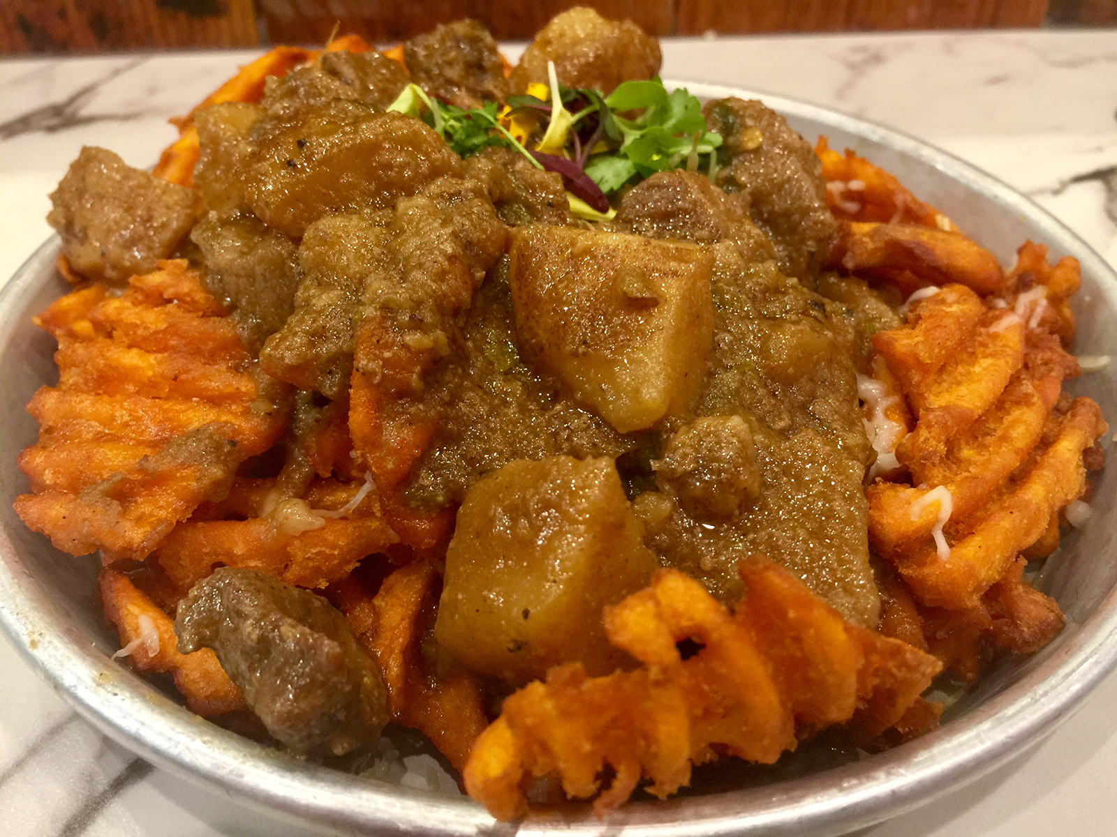 Sexy Fries from Curry Up Now in Palo Alto
